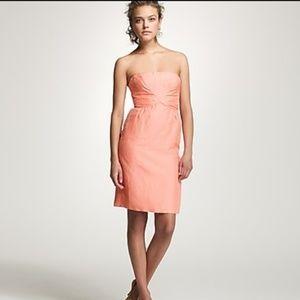 J Crew linen silk Milla formal dress size 8